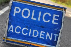 Four-vehicle accident blocks Canvey Way
