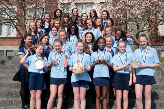 Westcliff High School - have been celebrating a haul of silverware from sporting events across the county