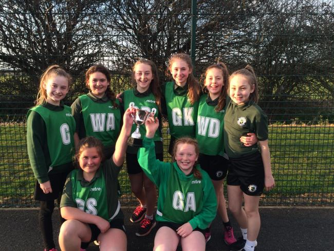 Unbeatable - Appleton School's Year 7 netball team are district champions