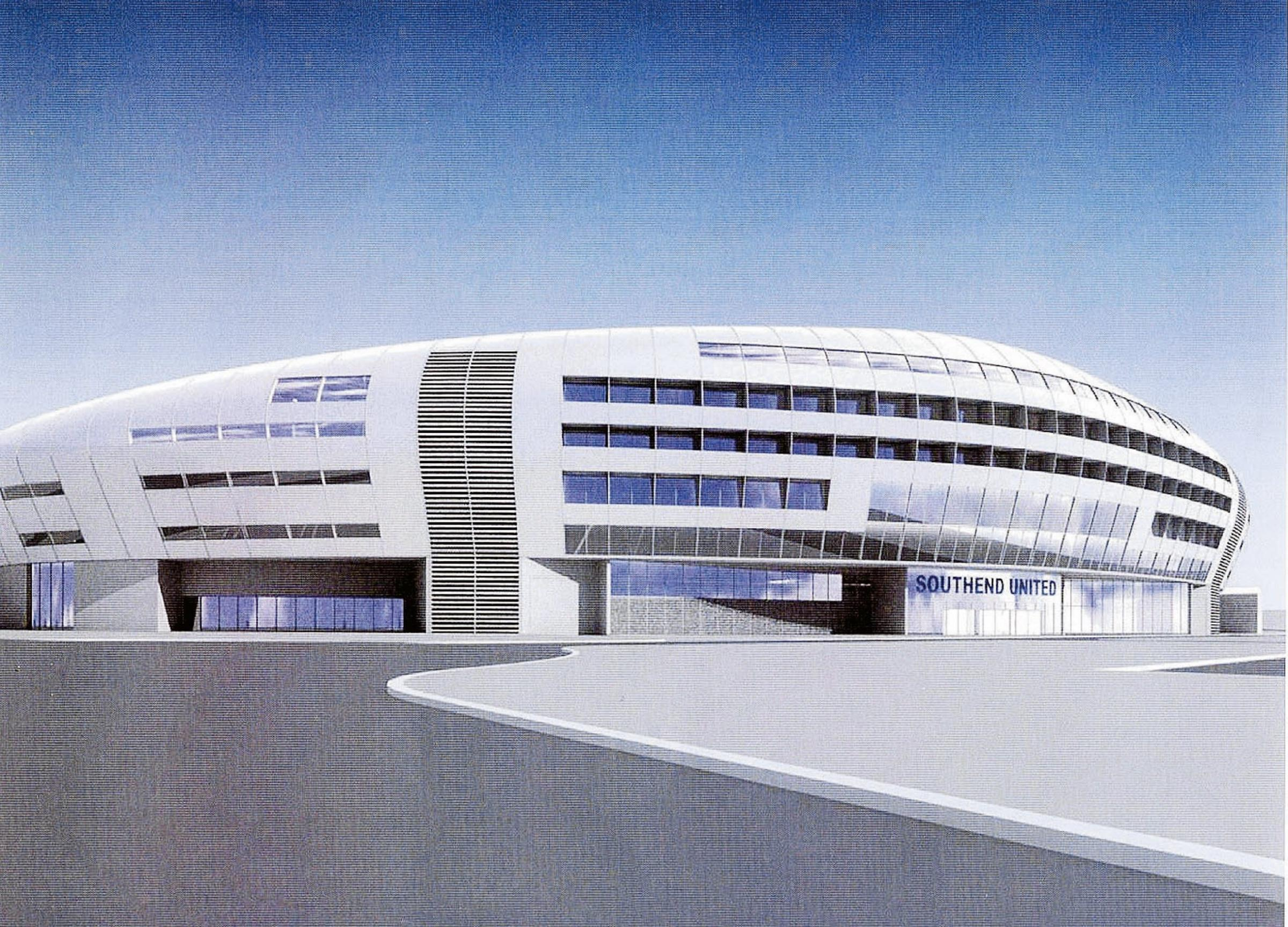 A CGI of the Blues' new stadium