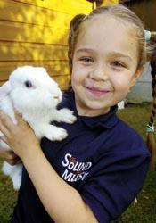 Jessica Daugirda  she's named her pet rabbit Gretl after her role in the Sound of Music as Gretl von Trapp
