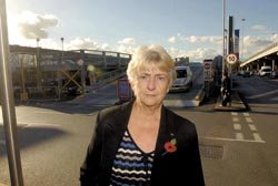 Appalled - councillor Ann Blake is angry the car park has been built without planning permission