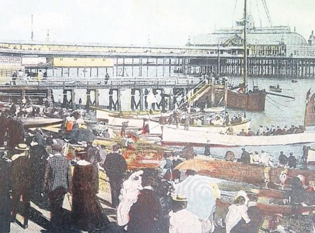 Southend Pier in its heyday