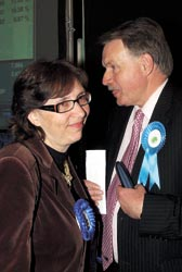 Anna Waite and Murray Foster, both former Tory council leaders were voted out  in local elections. Mrs Waite was subsequently re-elected