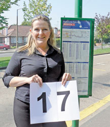 Jump on the number 17 - Charlotte Humphries is confident the new bus service will be a success