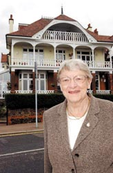 Joy Colbeck outside Henleaze, Westcliff, where she was posted
