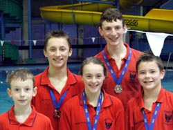 Rising stars - (l to r): Oliver Knight, Jack Byfield, Kathryn Pearse, Michael Grace and Harvey Brown
