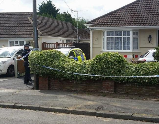 Police at a property in Chesham Drive, Laindon