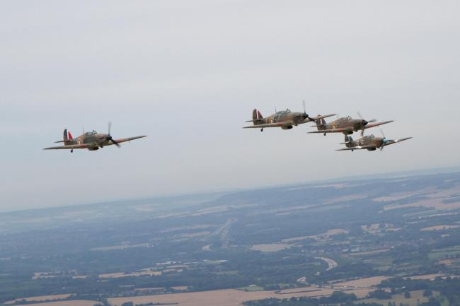 Spitfires and Hurricanes will be seen over Essex skies today as