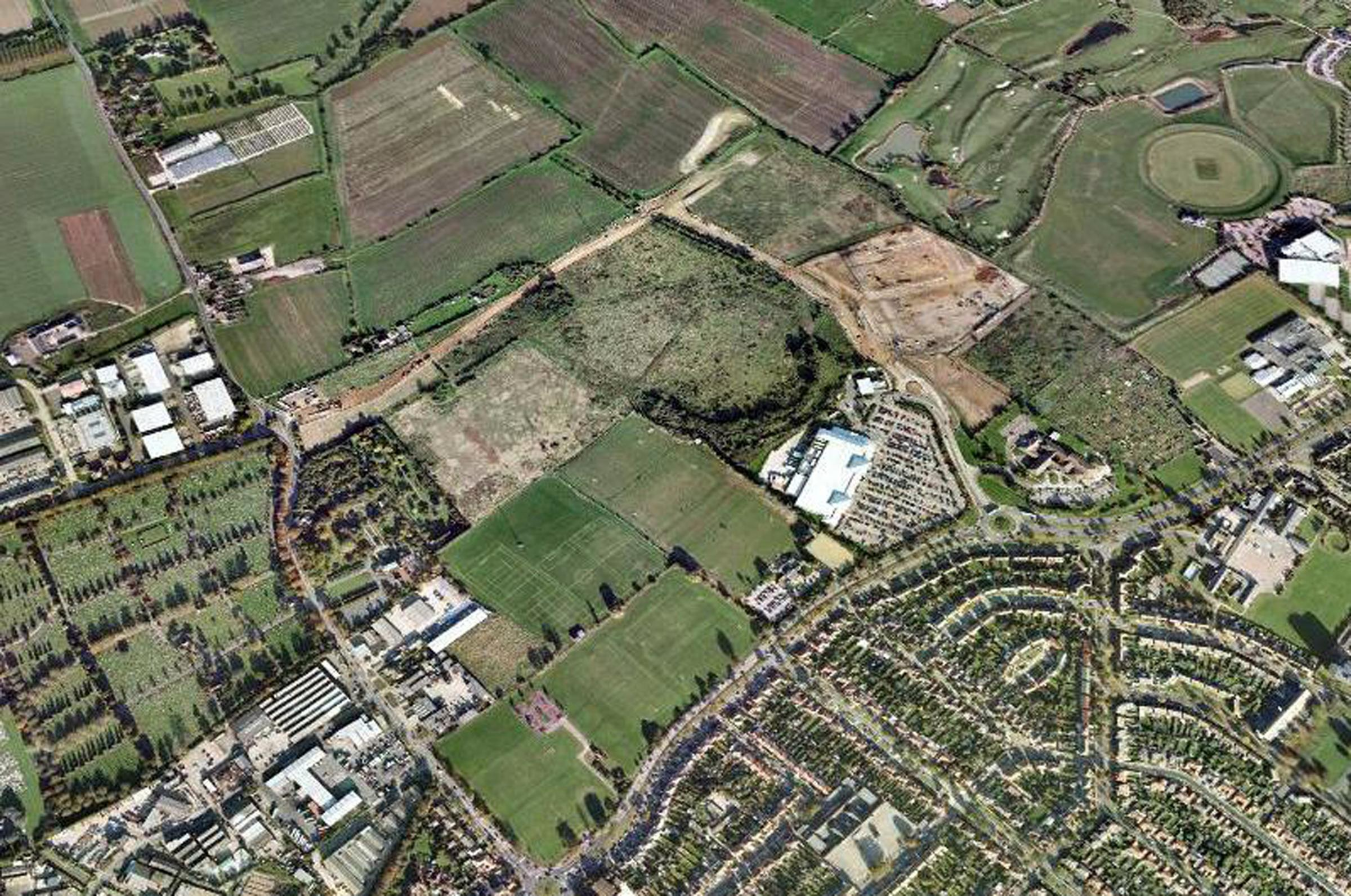 Potential - an aerial view of the Fossetts Farm site