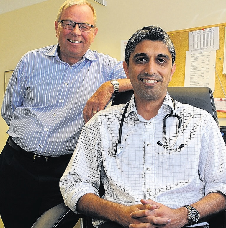 Meeting demand – weekend service operations director Ian Murphy, left, and medical lead Dr Sanj Chana