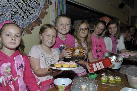 Children at Holt Farm Junior School raised money for Breast Cancer Care