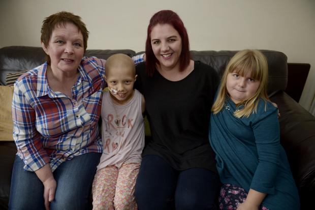 Echo: Fundraising together- Nanny Donna Taylor, Sadie, Jessica and Lily Ford