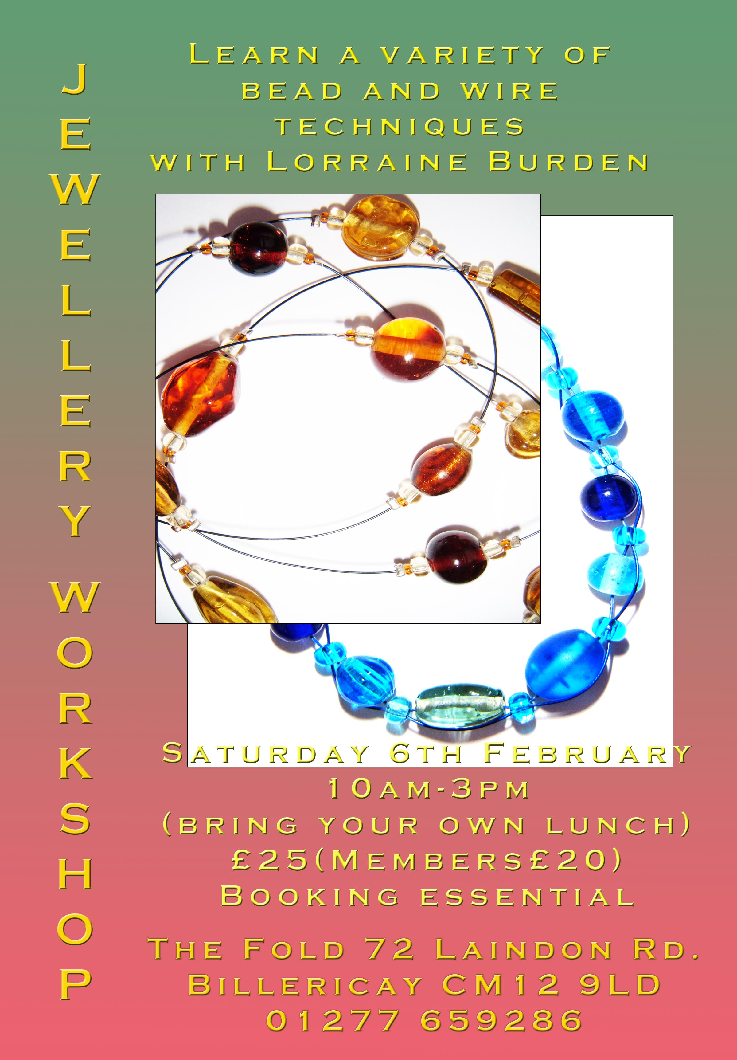 Jewellery Workshop at the Fold Billericay