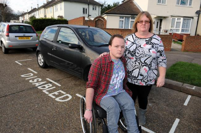 Mary Nunn got the disabled parking bay outside her home to help with care for her son, James Ireland