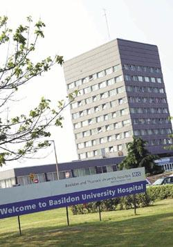 Echo: Basildon Hospital: Measures such as enhanced cleaning have been put in place