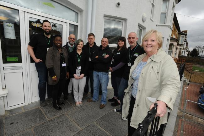 Gill Garwood - chief executive of homeless charity Harp and her team of dedicated workers