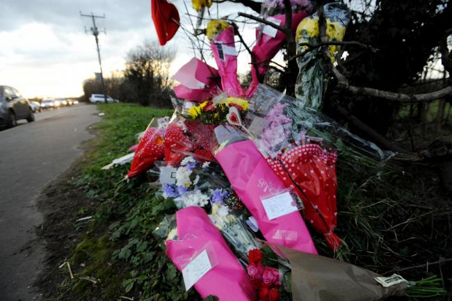 Tributes left at the roadside