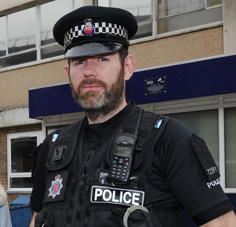 Warning- PC Marek Jaworski is urging people not to leave cars in reach of doorways