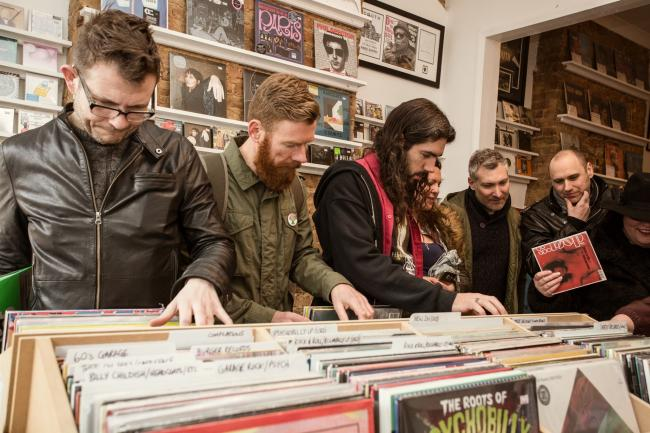 RSD customers at South Records. Picture: www.whitbyphoto.com