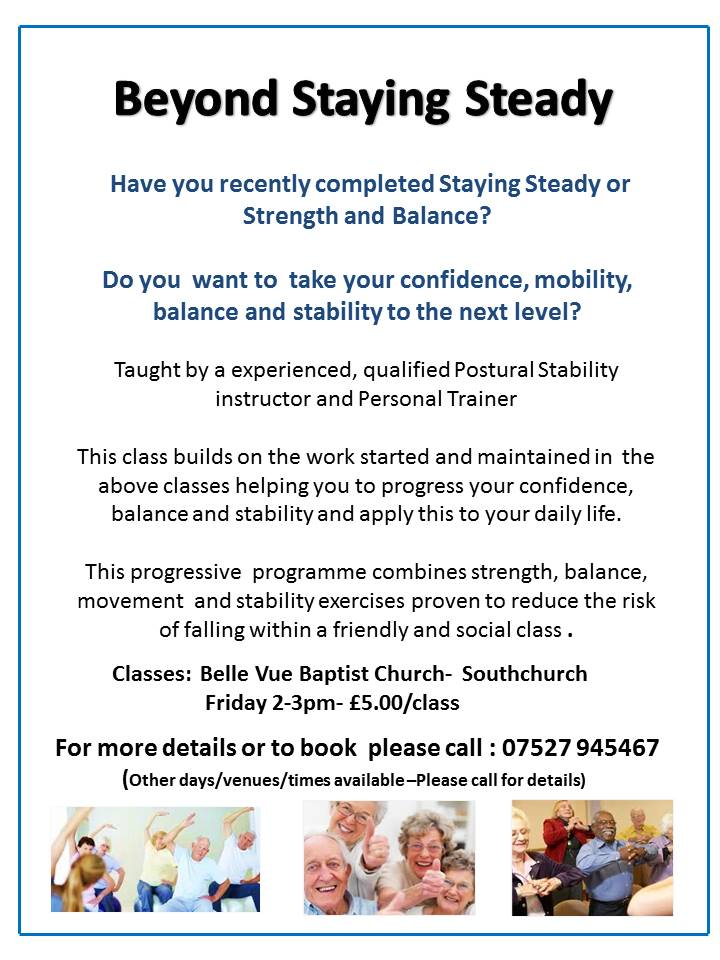 Beyond Staying Steady- Balance and Stability Progression Class