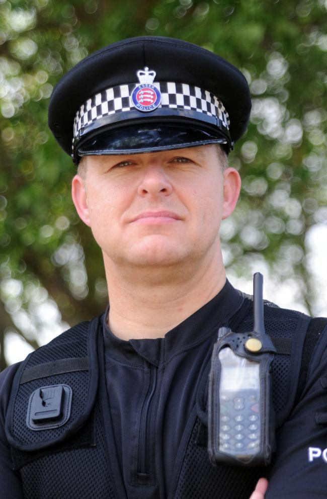 Sgt Mark McQuade, from Canvey Police.
