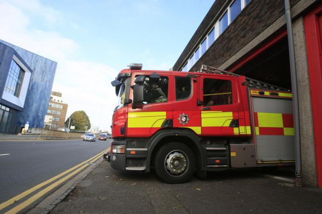 Firefighters extinguish car blaze in Basildon