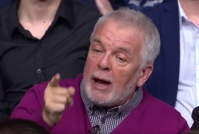 'All hail purple jumper man!': TV viewers' glee at outspoken audience member as BBC Question Time comes to Southend