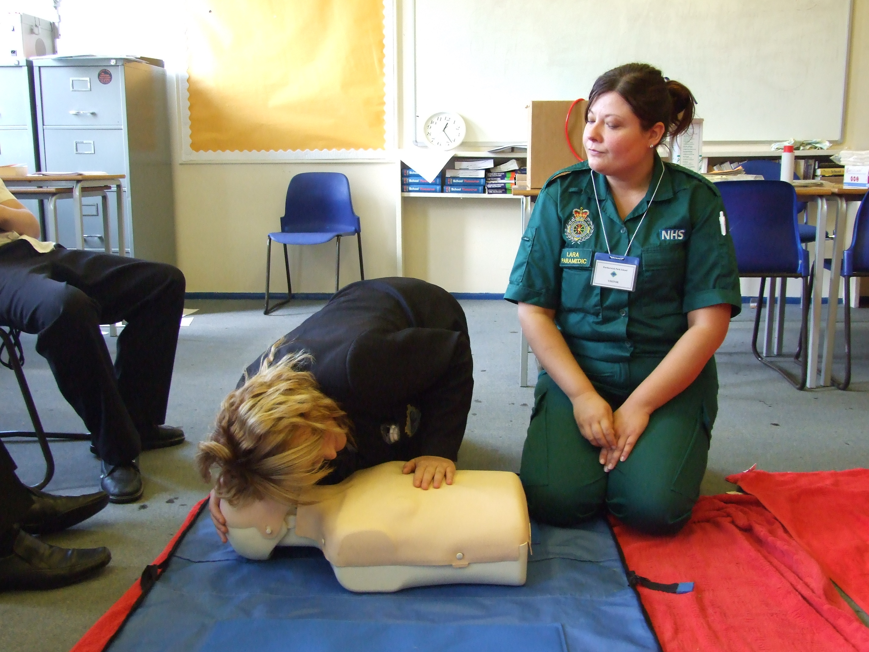 Pupils get first aid training