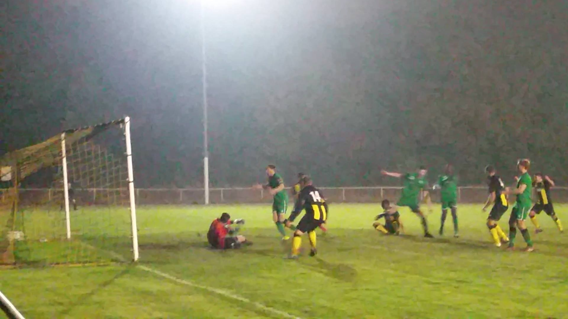 Opener - Taylor Sinfield, on the floor, scrambles home for Basildon           Picture: NATHAN BRIGHT