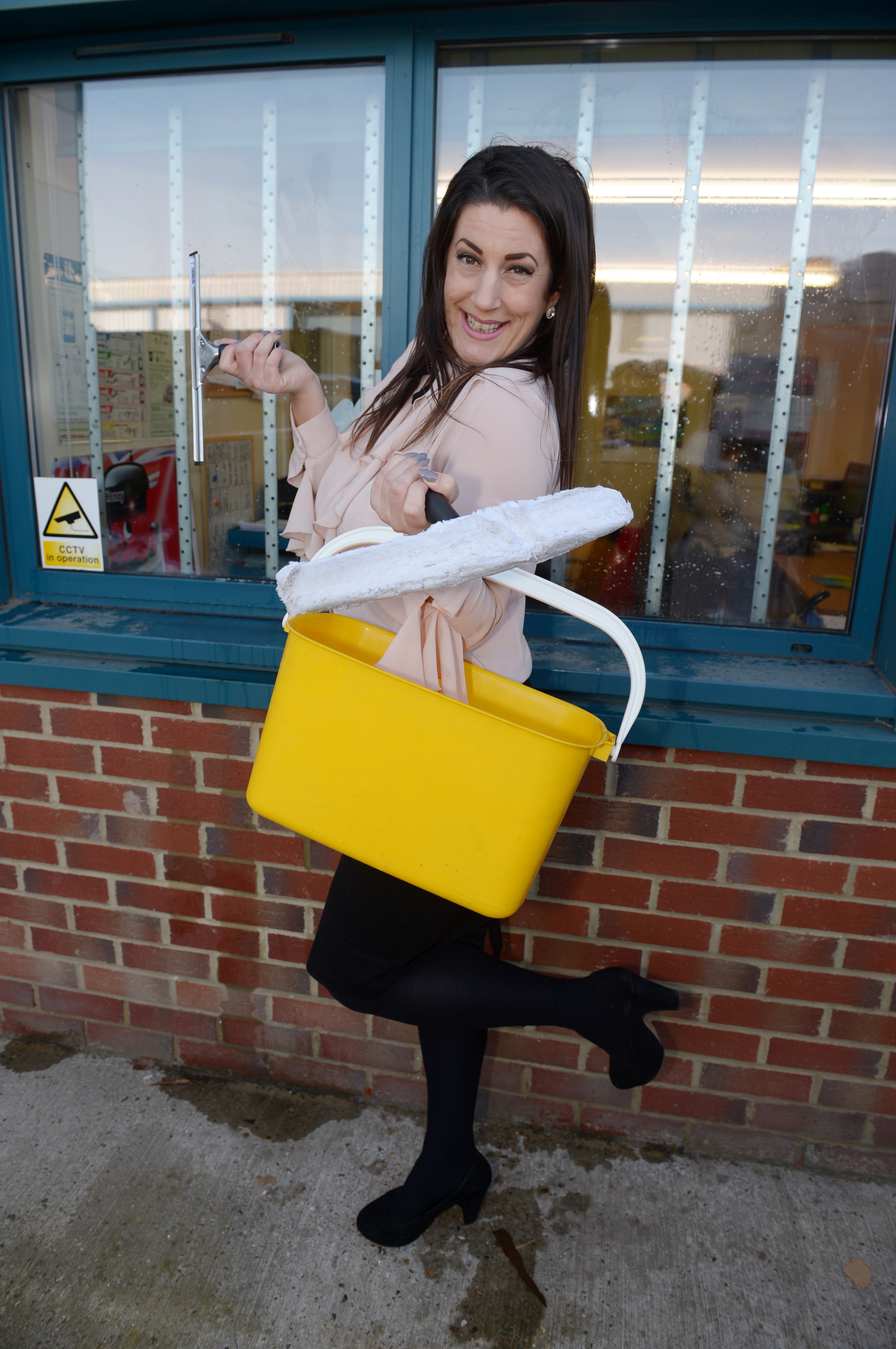 Sarah Mitchell.Roche View business park, Millhead Way, Rochford .Sarah Mitchell will be attempting to beat the world record for window cleaning tomorrow in her high heels...