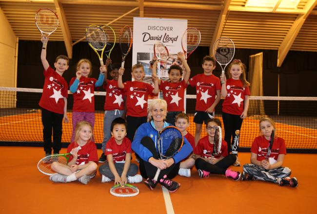 Up and coming stars - Judy Murray with some of south Essex's finest young tennis players
