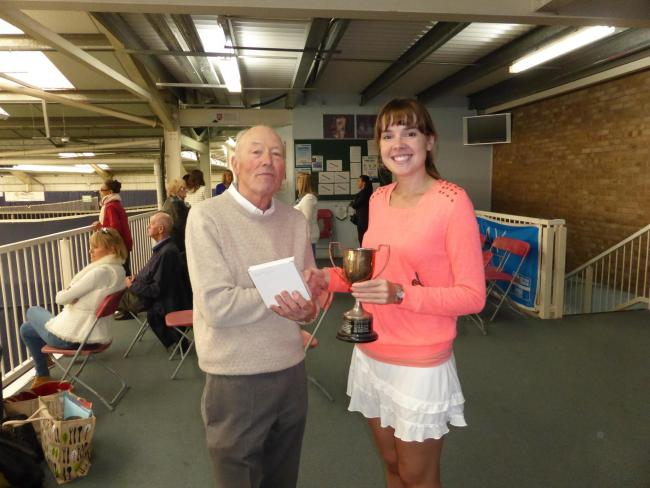 Double winner - Emily Watts with Essex President Harry Brickwood