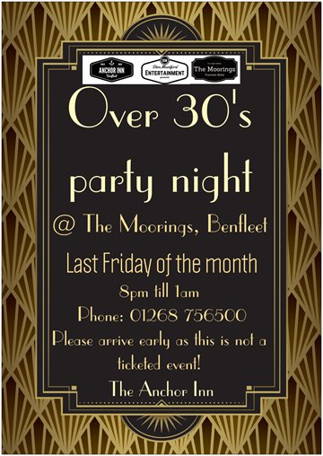 Over 30's Party Night