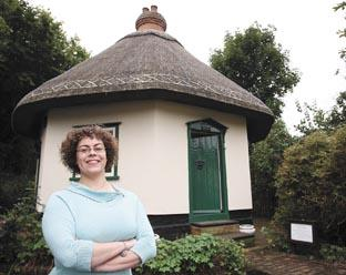 Home sweet home - but Fay Laflin had to agree to show visitors around the cottage once a week