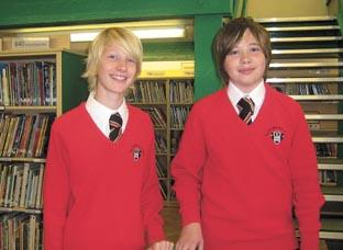 Clever kids – A-students Alex Cumbrey and Sean Cooper