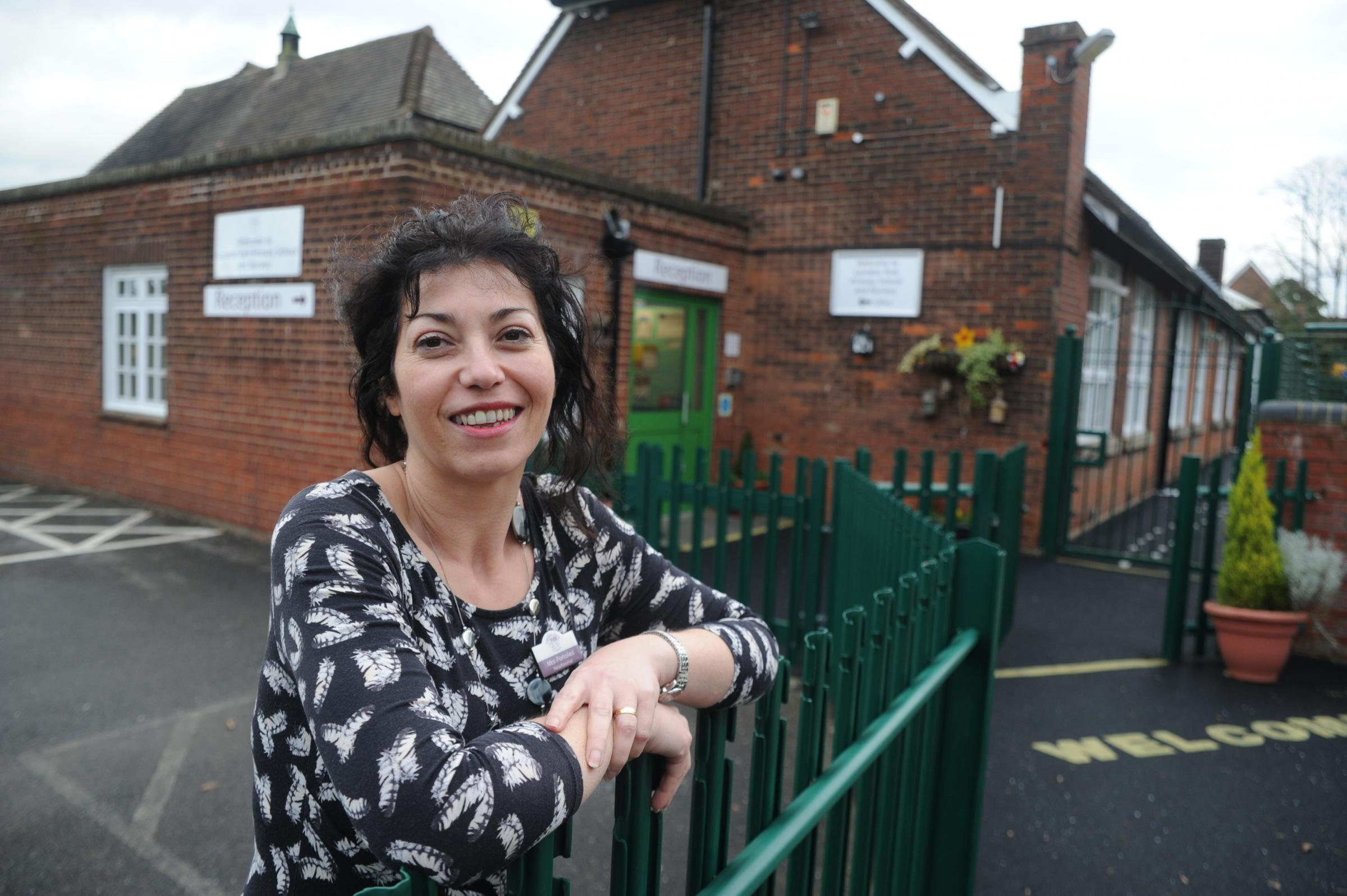 laindon park primary school, church hill, laindon.Cristina Portoles, head at the school. Her school had only one member of staff off in whole of the 2012/13 academic year which is fantastic as some schools had more than 500.Picture: Paul Watson. Date 27.0