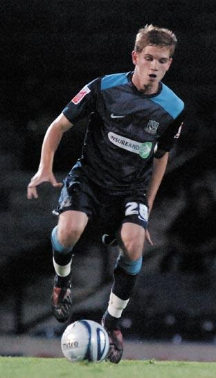 Lee Sawyer was taken off against Stockport County on Saturday