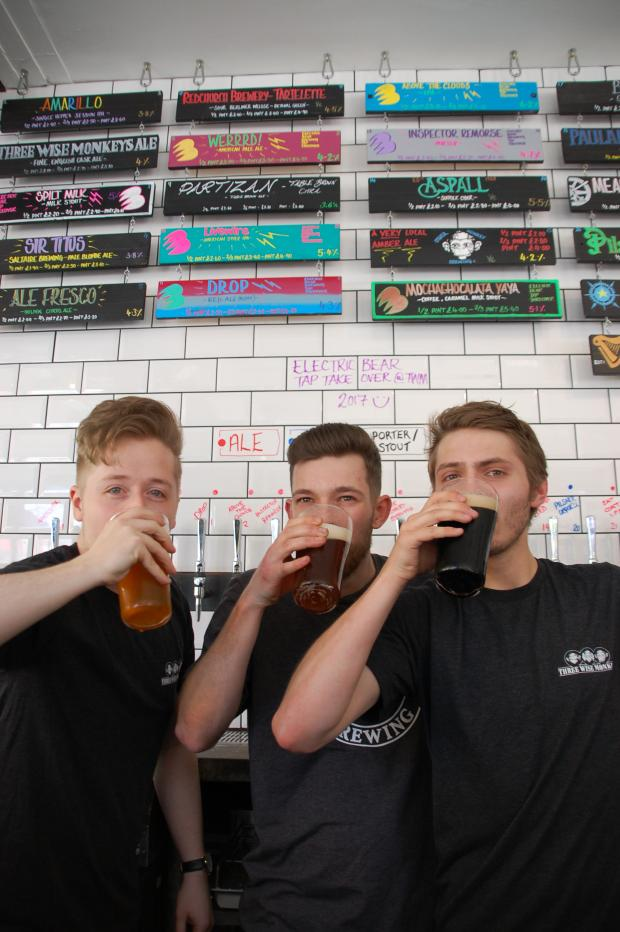 Echo: James Kildea, Jack Snell and Zach Maynard getting ready for TWM's first ever beer festiva
