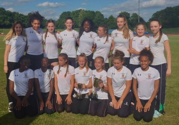 Winners - the intermediate team performed impressively to clinch Southend High School for Girls' 19th National Athletics Track and Field Cup title