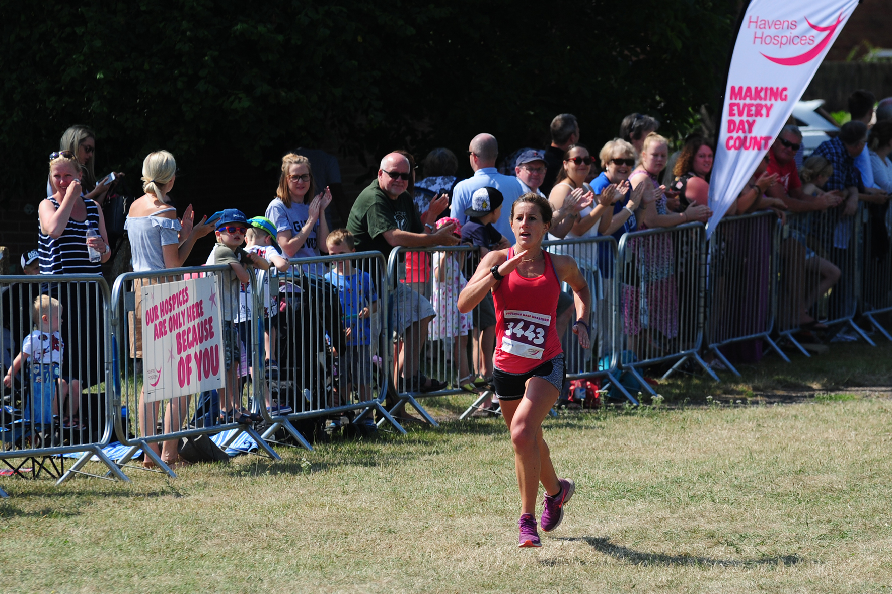 First lady - Beth Bohaine was in fine form at the Southend Half