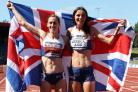Flying the flag - Jessica Judd (right) will compete in the 1500m at the World Championships