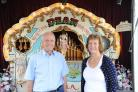 Southen Pier, Southend. Punch and Judy festival. Derek and Pauline Legg, with their Fair Organ. Picture Steve O'Conell 06-08-17