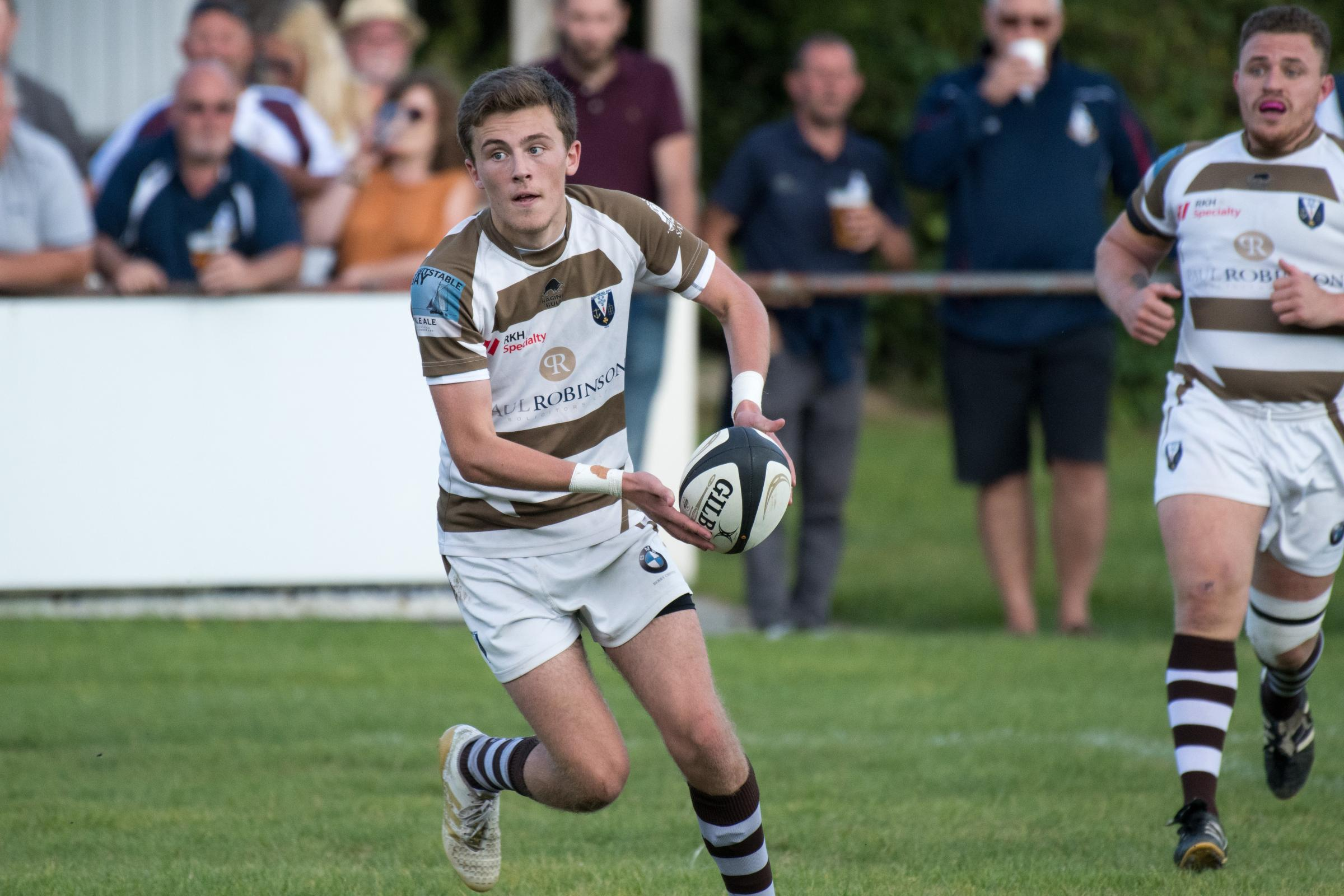 Upbeat - Southend Saxons fly-half Tom Ramsey