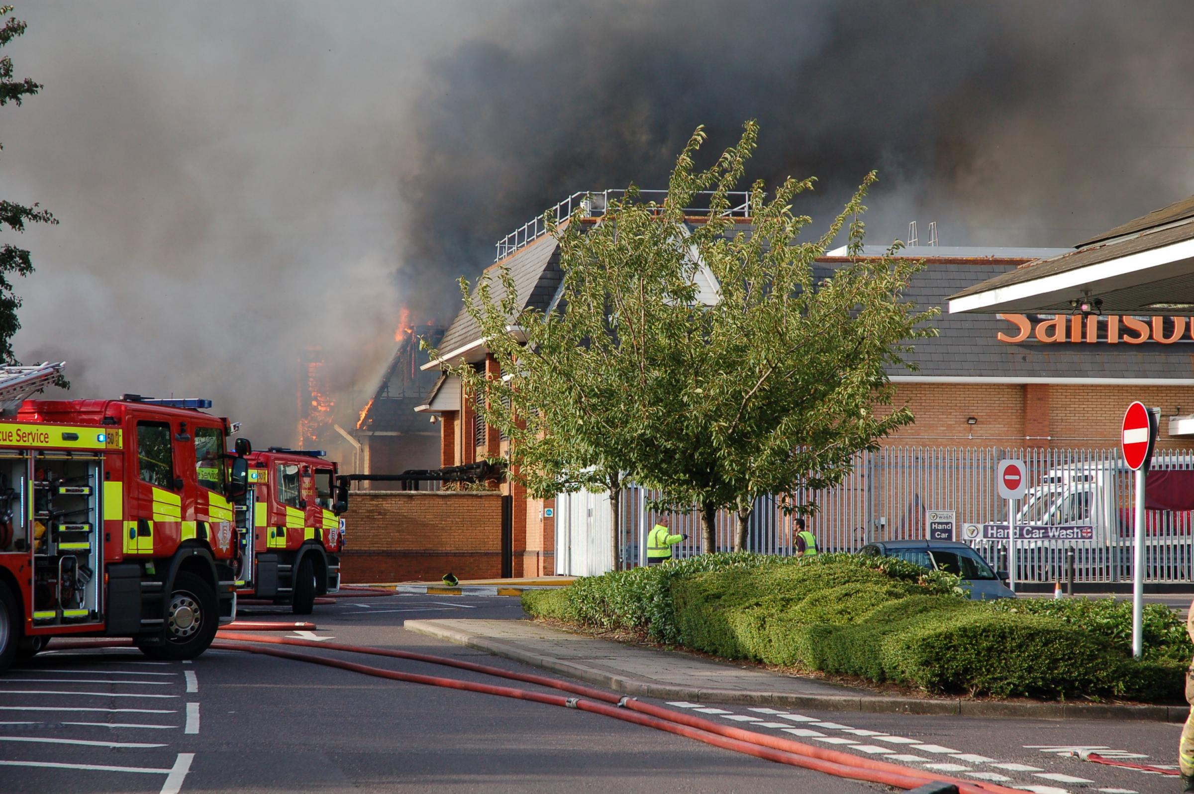 200 new homes and a doctors surgery were planned for site where building burnt down