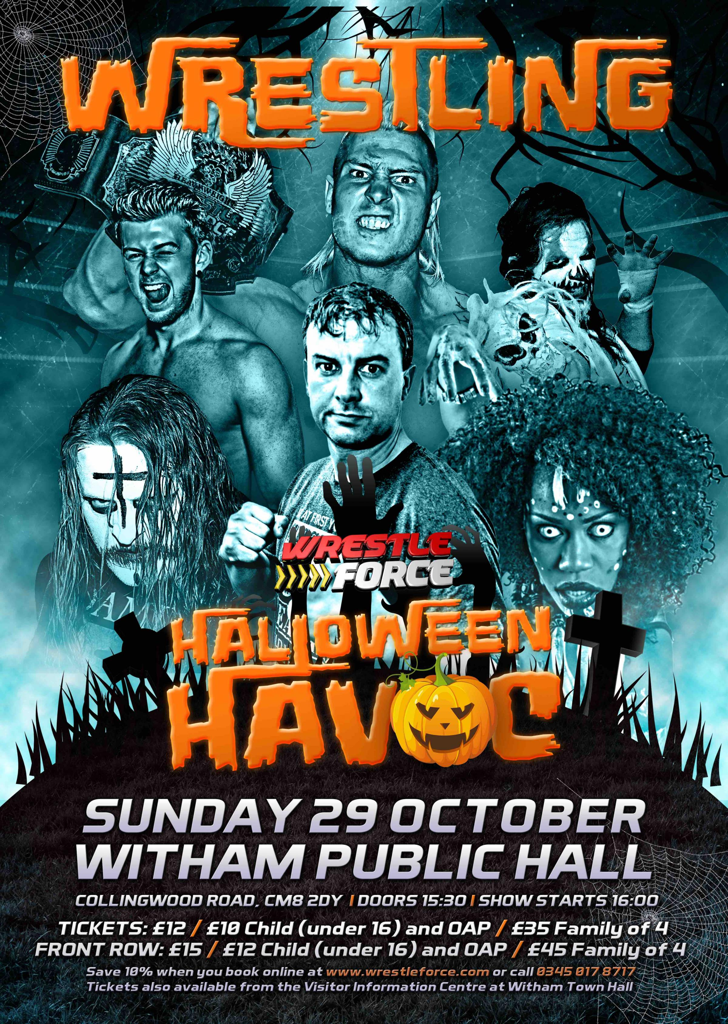 Live Wrestling, Halloween Havoc, in Witham!