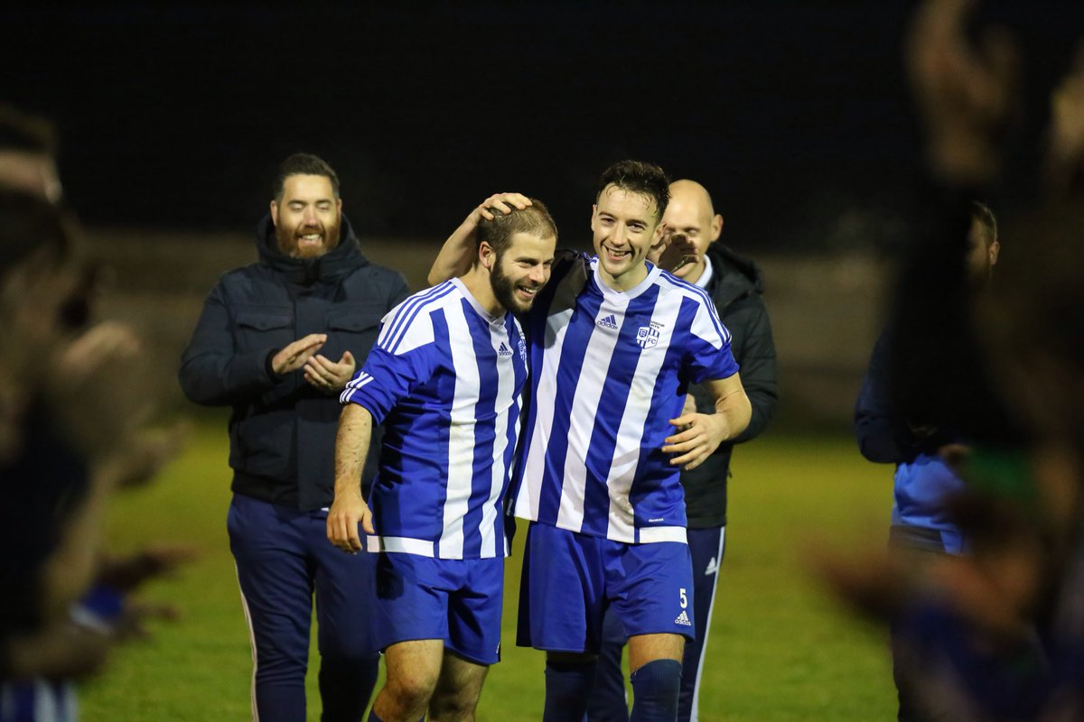 Friends - Rob Hodgson, right, and Aaron Hunwicks mark the end of an era at Hullbridge Sports Picture: NEIL HUNWICKS
