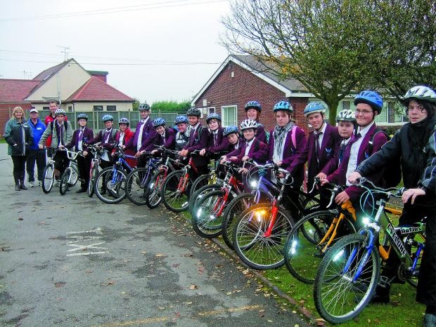 Safer cyclists - the pupils saddle up for their Bikeability safety training