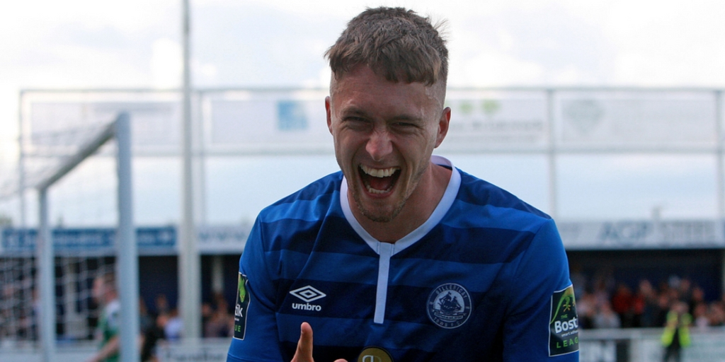 Back with a bang - Billericay Town striker Jake Robinson was on target as he returned from injury Picture: NICKY HAYES