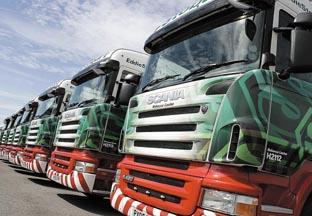 Familiar sight – part of the Eddie Stobart fleet of 1,850 lorries